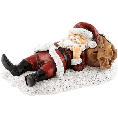 Napping Santa Statue