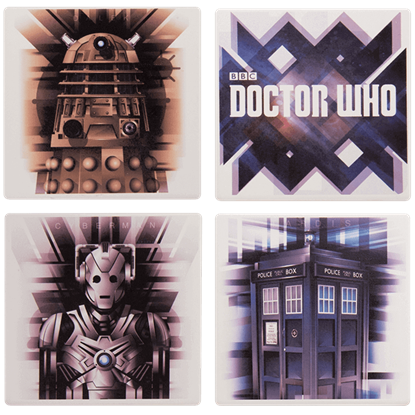 Doctor Who 4 Piece Ceramic Coaster Set