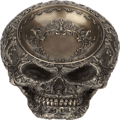 Bronze Steampunk Skull Dish