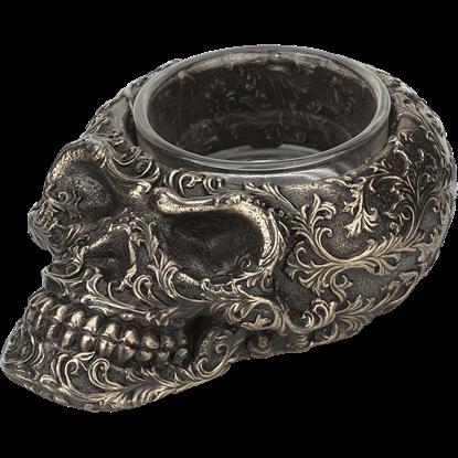 Steampunk Skull Candle Holder