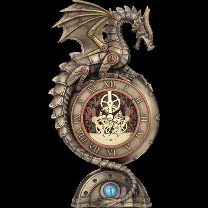 Steampunk Dragon Table Clock