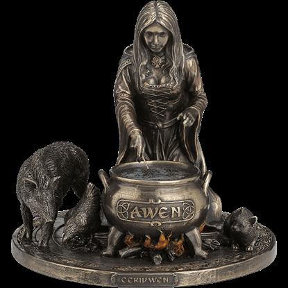 Bronze Ceridwen Statue