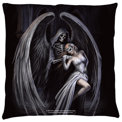Small Anne Stokes Dance with Death Pillow