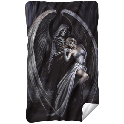 Anne Stokes Dance with Death Fleece Blanket