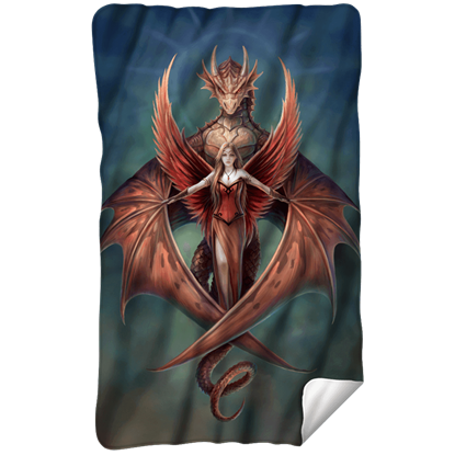 Anne Stokes Copperwing Fleece Blanket