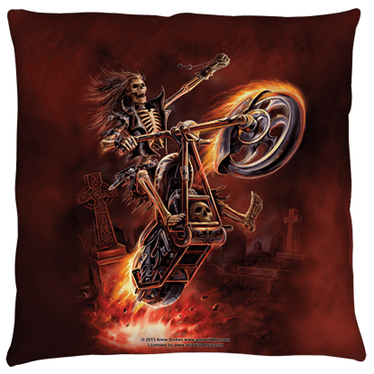 Small Anne Stokes Hellrider Pillow