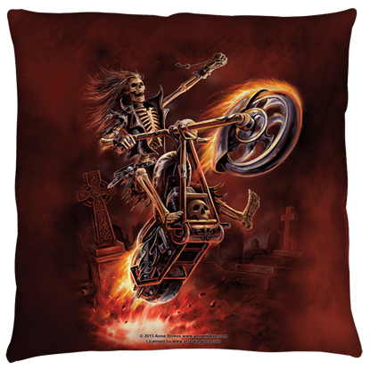 Large Anne Stokes Hellrider Pillow