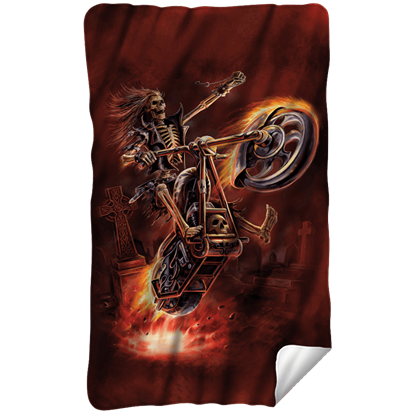 Anne Stokes Hellrider Fleece Blanket