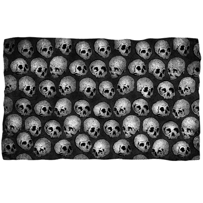 Gray Skull Fleece Blanket
