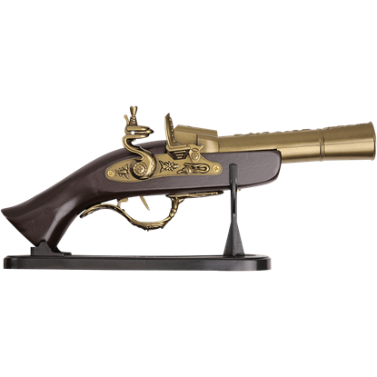 Antique Gold Flintlock Pistol