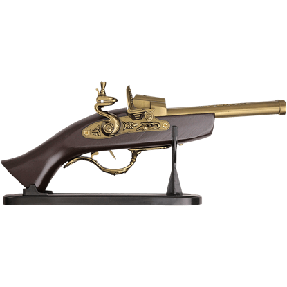 Double Barrel Flintlock Pistol