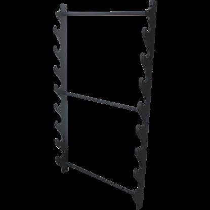 Black 8 Piece Sword Stand