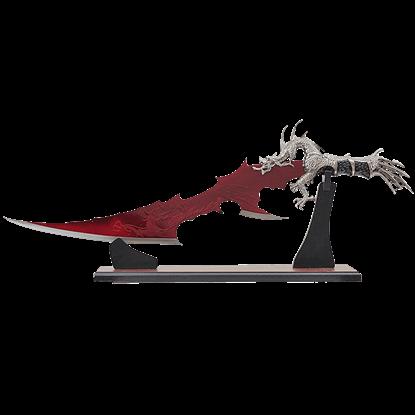 Blood Red Blade Dragon Dagger