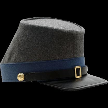 Blue Confederate Infantry Kepi Hat