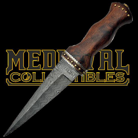 1e9aa5acec7 Damascus Sgian Dubh - ZS-DM-1076byMedieval swords