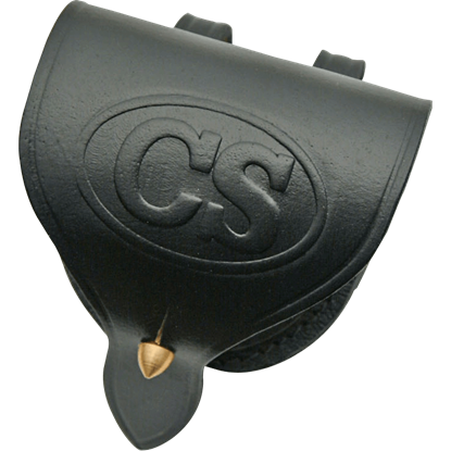 Confederate States Leather Cap Pouch