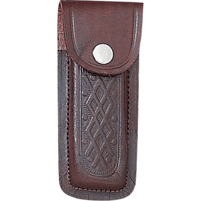 5 Inch Brown Printed Leather Sheath