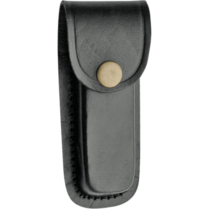 4 Inch Black Plain Leather Sheath