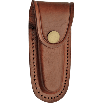 4 Inch Brown Oval Leather Sheath
