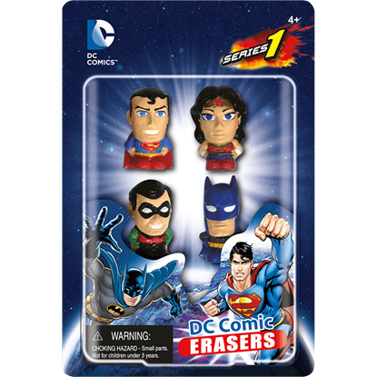 DC Heroes 4 Pack Eraser Set