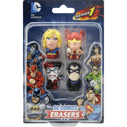 DC 4 Pack Eraser Set