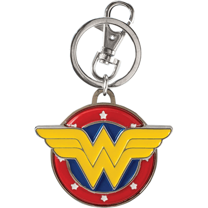 Colored Wonder Woman Logo Keychain