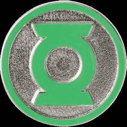 Colored Green Lantern Logo Lapel Pin