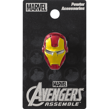Colored Iron Man Mask Lapel Pin