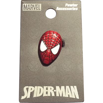Colored Spider-Man Mask Lapel Pin