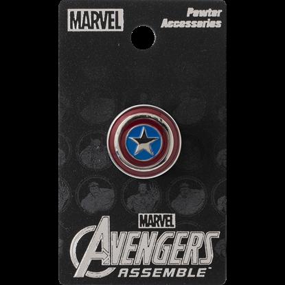 Colored Captain America Shield Lapel Pin