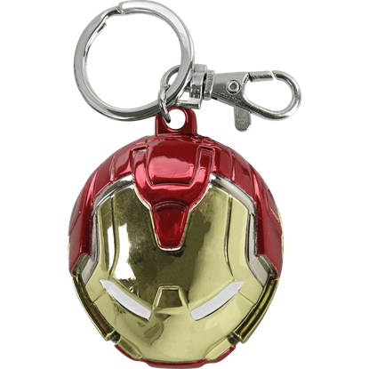 Colored Hulkbuster Mask Keychain