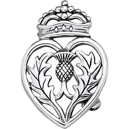 Crowned Scottish Thistle Brooch