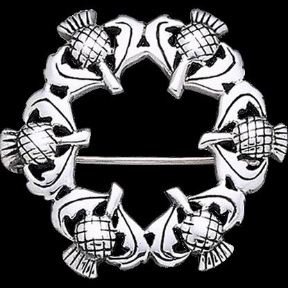Scottish Thistle Wreath Pin