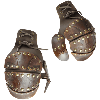Odomar Viking Leather Half Gauntlets