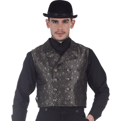 Black Double-Breasted Cavalier Vest