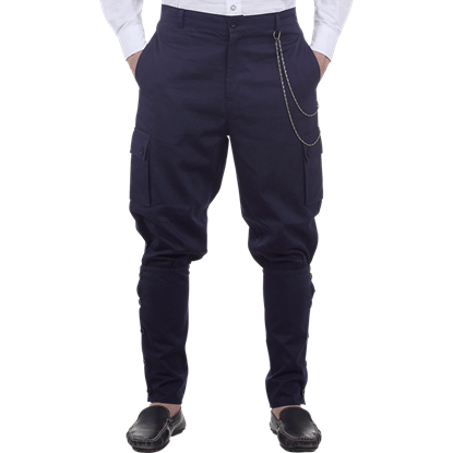 Blue Airship Steampunk Trousers