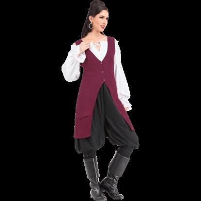 Elizabeth Linen Pirate Vest