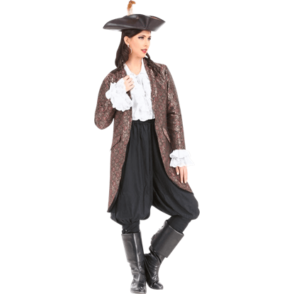 Angelica Brocade Privateer Coat