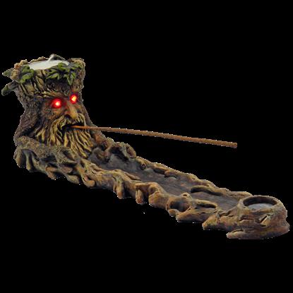 Green Man Incense Burner With LED Eyes