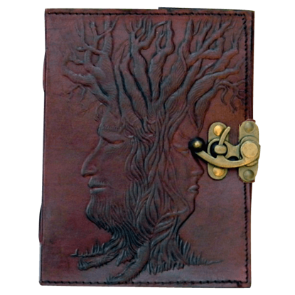 Locked Tree of Wisdom 5x7 Embossed Leather Journal