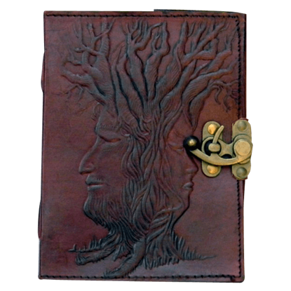 Locked Tree of Wisdom 6x8 Embossed Leather Journal