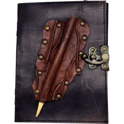 Brown Leather Journal with Pencil