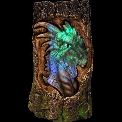 LED Dragon Log Light