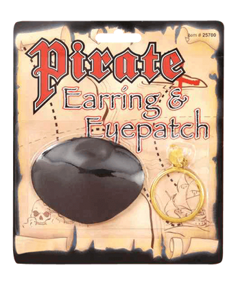 Pirate's Earring and Eye Patch