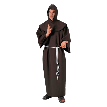 Brown Monk's Robe Men's Costume