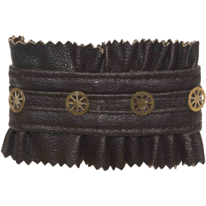 Steampunk Leather And Gears Bracelet
