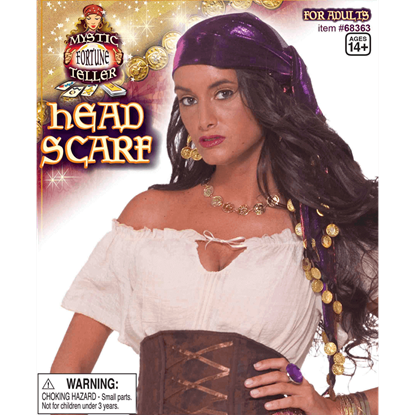 Gypsy's Coined Head Scarf