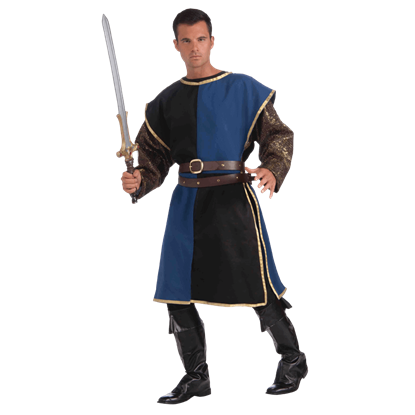 Blue and Black Medieval Costume Tabard