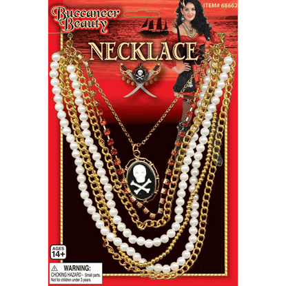 Buccaneer Beauty Layered Cameo Necklace