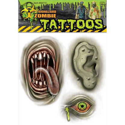 Biohazard Mutant Body Parts Tattoos